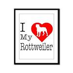 I Love My Rottweiler Framed Panel Print