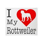 I Love My Rottweiler Throw Blanket