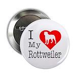 I Love My Rottweiler 2.25