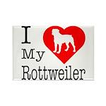 I Love My Rottweiler Rectangle Magnet (10 pack)