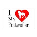 I Love My Rottweiler Car Magnet 20 x 12