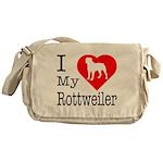 I Love My Rottweiler Messenger Bag