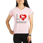 I Love My Rottweiler Performance Dry T-Shirt