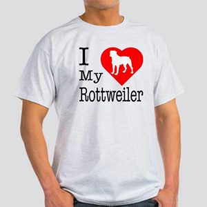 I Love My Rottweiler Light T-Shirt