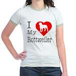 I Love My Rottweiler Jr. Ringer T-Shirt