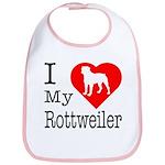 I Love My Rottweiler Bib