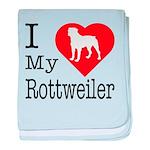 I Love My Rottweiler baby blanket