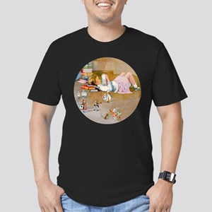 Alice's Trip to Wonderland Men's Fitted T-Shirt (d