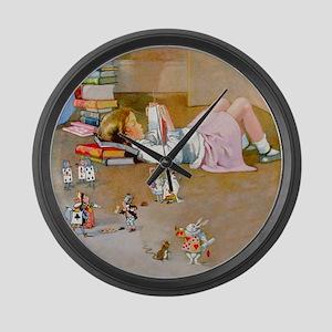 Alice's Trip to Wonderland Large Wall Clock