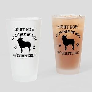 Schipperke Dog Breed Designs Drinking Glass
