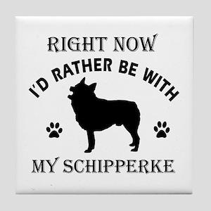 Schipperke Dog Breed Designs Tile Coaster