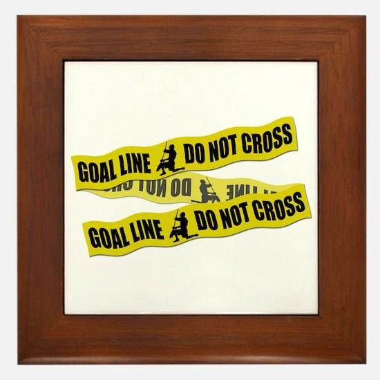 Lacrosse Crime Tape Framed Tile