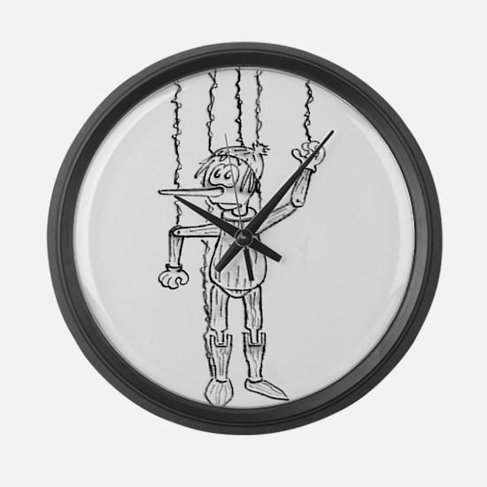 Pinocchio Large Wall Clock