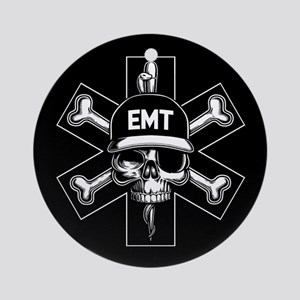 EMT Pirate Day Ornament (Round)