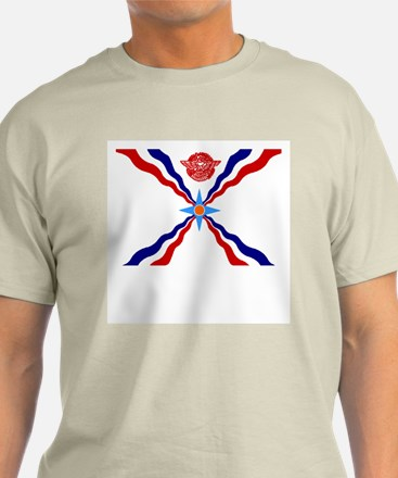 Assyrian Flag Ash Grey T-Shirt