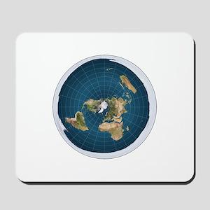 flat earth map Mousepad
