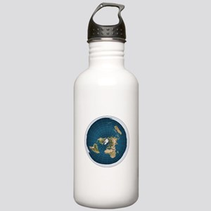 flat earth map Water Bottle