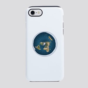 flat earth map iPhone 7 Tough Case