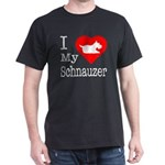 I Love My Schnauzer Dark T-Shirt