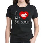 I Love My Saint Bernard Women's Dark T-Shirt