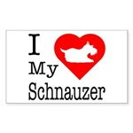 I Love My Schnauzer Sticker (Rectangle)