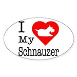 I Love My Schnauzer Sticker (Oval 10 pk)
