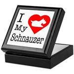 I Love My Schnauzer Keepsake Box