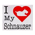 I Love My Schnauzer Throw Blanket