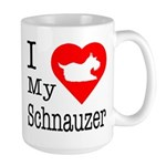 I Love My Schnauzer Large Mug