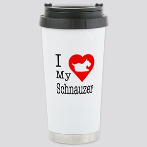 I Love My Schnauzer Stainless Steel Travel Mug