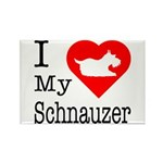 I Love My Saint Bernard Rectangle Magnet (10 pack)