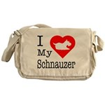 I Love My Saint Bernard Messenger Bag