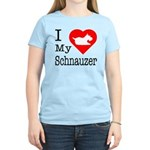 I Love My Schnauzer Women's Light T-Shirt