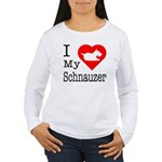 I Love My Saint Bernard Women's Long Sleeve T-Shir