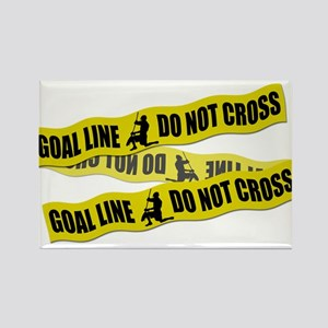 Lacrosse Crime Tape Rectangle Magnet