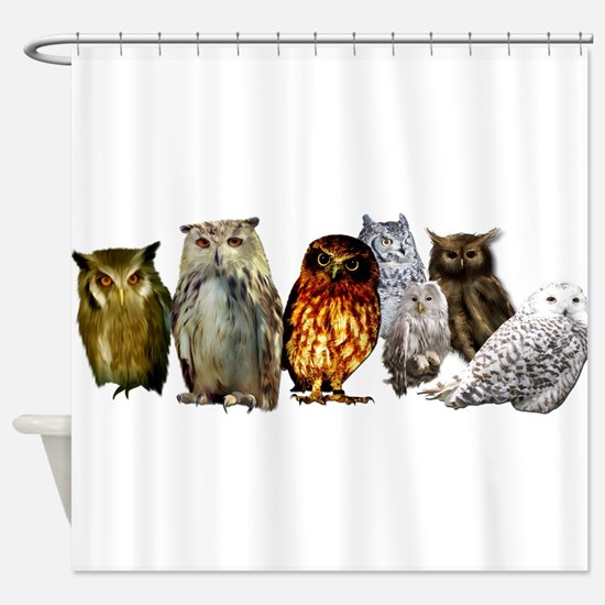 Cute Birders Shower Curtain