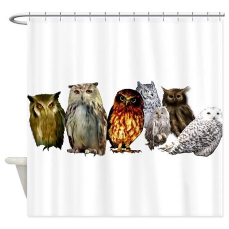 Owl Shower Curtains Cafepress