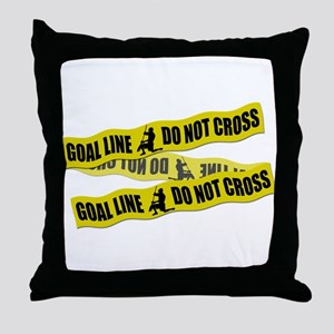 Lacrosse Crime Tape Throw Pillow
