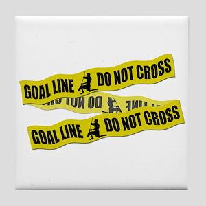 Lacrosse Crime Tape Tile Coaster
