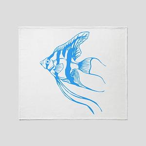 Angelfish Tropical Fish. Throw Blanket