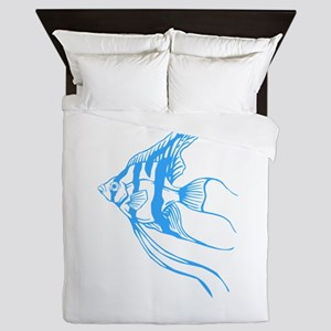 Angelfish Tropical Fish. Queen Duvet