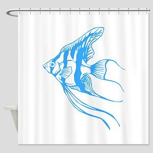 Angelfish Tropical Fish. Shower Curtain