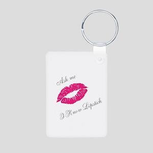 Lipstick Aluminum Photo Keychain