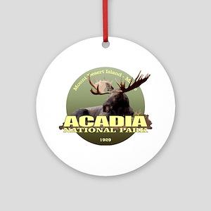 Acadia (Moose) WT Round Ornament