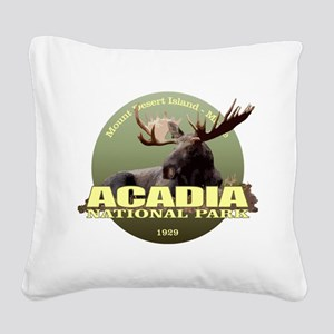 Acadia (Moose) WT Square Canvas Pillow