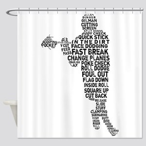 Lacrosse Terminology Shower Curtain