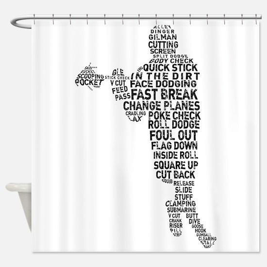 Lacrosse Terminology Shower Curtain