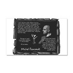 Foucault's Critique Car Magnet 20 x 12
