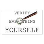 Verify Everything Yourself Sticker (Rectangle)