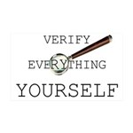 Verify Everything Yourself 38.5 x 24.5 Wall Peel